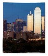 Dallas Skyline Sunset Fleece Blanket