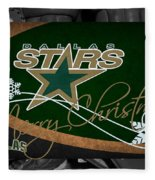 Dallas Stars Christmas Fleece Blanket