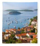 Dalmatian Coast Fleece Blanket