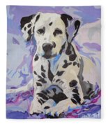 Dalmatian Puppy Fleece Blanket