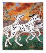 Dalmatians Three Fleece Blanket