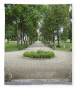 Daly Mansion Entrance - Montana Fleece Blanket