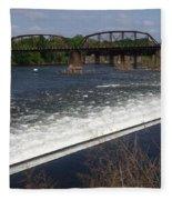 Dam And Rail Runs Fleece Blanket