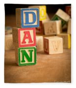 Dan - Alphabet Blocks Fleece Blanket
