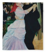 Dance At Bougival Renoir Fleece Blanket