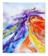 Dance Of Colors Fleece Blanket