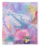 Dance Of The Dragonfly Fleece Blanket