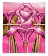 Dance Of The Pink Calla Lilies IIi Fleece Blanket