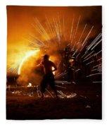 Dance On Fire Fleece Blanket