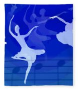 Dance The Blues Away Fleece Blanket