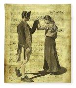 Dance The Minuet With Me Fleece Blanket