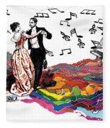 Dance Till The End Of Time Fleece Blanket