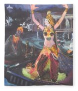 Dancer Laxmi Dancing On The Boat Fleece Blanket