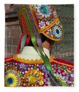 Dancer In Native Costume Peru Fleece Blanket