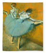 Dancers At The Barre Fleece Blanket