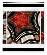 Dancing A Jig - Accordion - Pentaptych Fleece Blanket