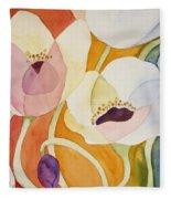 Dancing Anemones Fleece Blanket