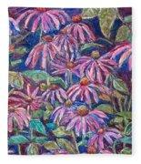 Dancing Coneflowers Fleece Blanket