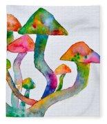 Dancing Cubensis Fleece Blanket