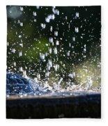 Dancing Droplets Fleece Blanket