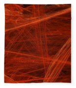 Dancing Flames 1 H - Panorama - Abstract - Fractal Art Fleece Blanket