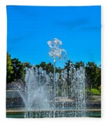 Dancing Fountain Fleece Blanket