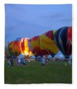Dancing In The Moonlight Hot Air Balloons Fleece Blanket