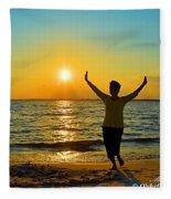 Dancing In The Sunlight Fleece Blanket