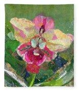 Dancing Orchid I Fleece Blanket