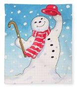 Dancing Snowman Fleece Blanket