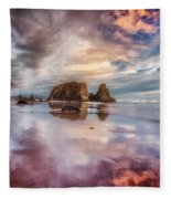 Dancing Sunset Fleece Blanket