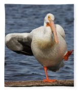 Dancing The Funky Chicken Fleece Blanket