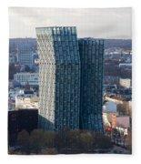Dancing Towers Hamburg Fleece Blanket