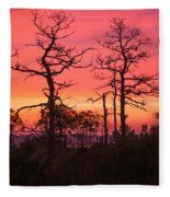 Dancing Trees Into The Fire Fleece Blanket