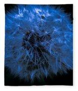 Dandelion Blues Fleece Blanket