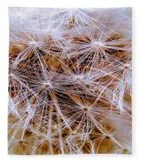 Dandelion Closeup Fleece Blanket