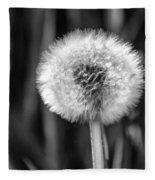 Dandelion Fluff Black And White Fleece Blanket