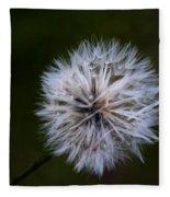 Dandelion In Green Fleece Blanket