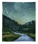 Dandelion Moon Fleece Blanket