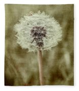 Dandelion Textures Fleece Blanket