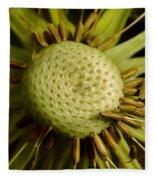Dandelion With Seeds Fleece Blanket
