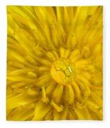 Dandelion With Waterdrop Fleece Blanket