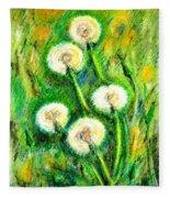 Dandelions Fleece Blanket