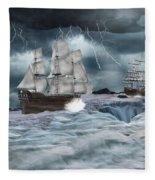 Danger Ahead Fleece Blanket