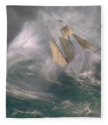 Danger At Sea Fleece Blanket