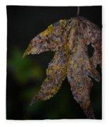 Dangling Dark Sweetgum Fleece Blanket
