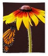 Dangling Monarch Fleece Blanket
