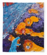 Daniel And The Lions Fleece Blanket