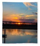 Daniel Island Sunset Fleece Blanket