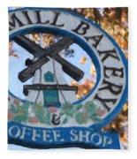Danish Mill Bakery In Solvang California Fleece Blanket
